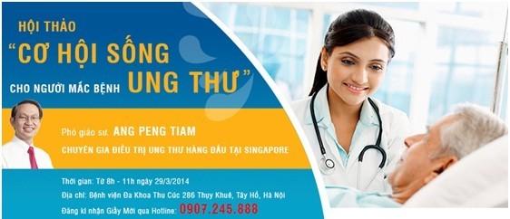 Hội thảo về ung bướu tại Bệnh viện Thu Cúc