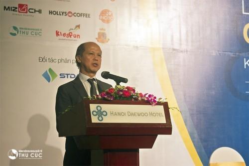 Thứ trưởng Bộ Xây Dựng Nguyễn Trần Nam phát biểu tại lễ công bố dự án