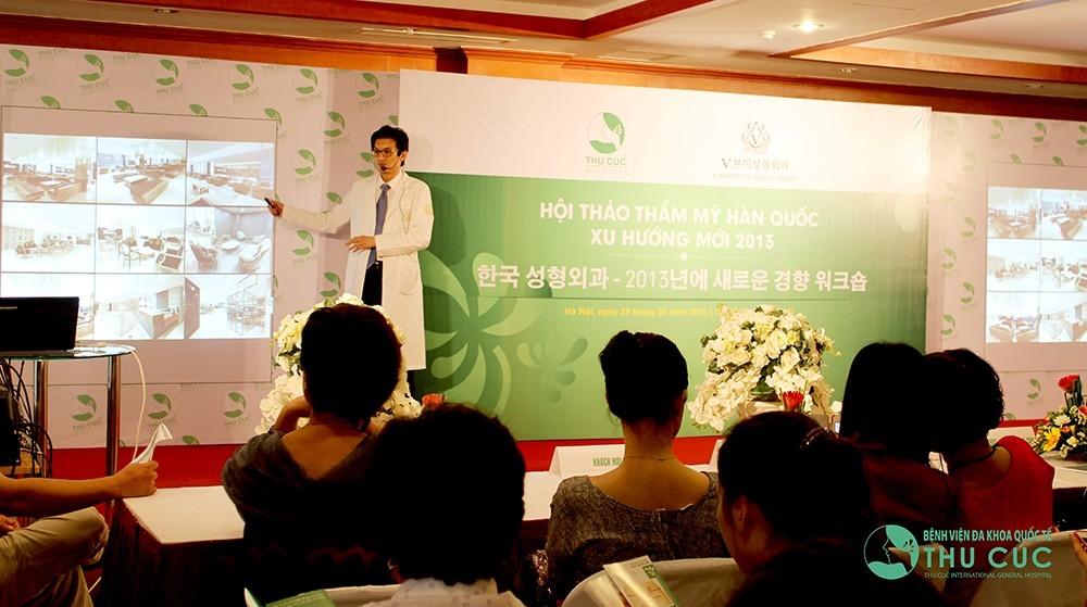 Thu Cúc là đối tác chính thức của Tập đoàn Phẫu thuật thẩm mỹ Hàn Quốc V-Plastic