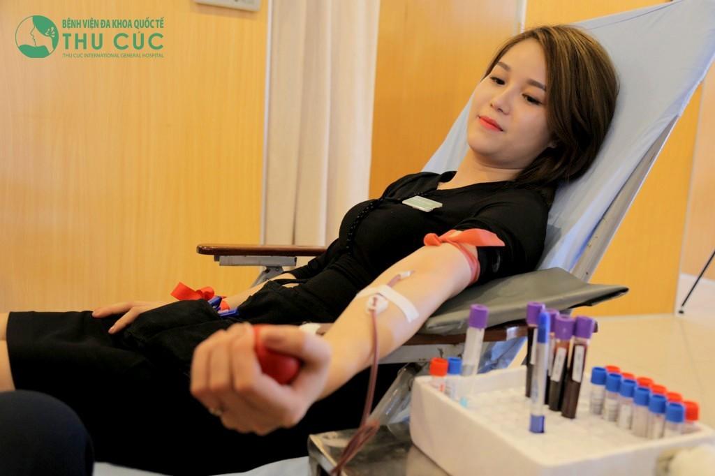 Ngày hội hiến máu nhân đạo tại Bệnh viện Đa khoa Quốc tế Thu Cúc