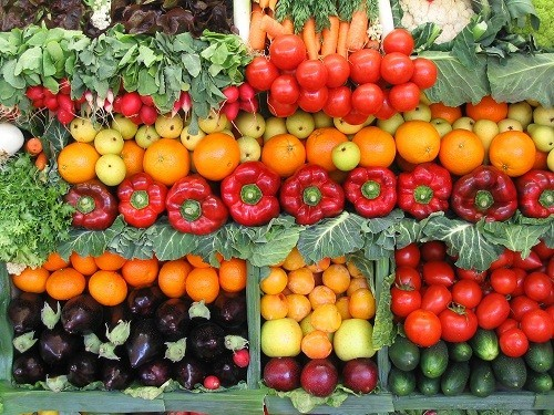Chất chống oxy hóa có nhiều trong các loại rau và trái cây nhiều màu sắc.