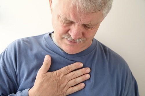 Chúng ợ nóng gây ra triệu chứng đau rát sau xương ức.