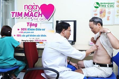 Tại bệnh viện Thu Cúc người bệnh được thăm khám với Giáo sư tim mạch hàng đầu