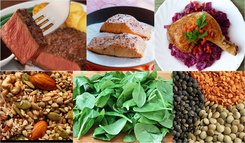 Không ăn đủ các loai thực phẩm giàu chất sắt cũng có thể là nguyên nhân dẫn tới tình trạng thiếu máu do thiếu sắt.