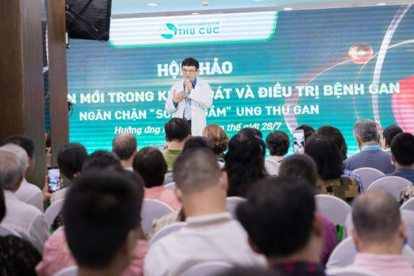 Bệnh viện Thu Cúc tổ chức thành công nhiều hội thảo, tư vấn trực tuyến về điều trị bệnh gan, tạo được tiếng vang lớn và thu hút đông đảo người tham dự.