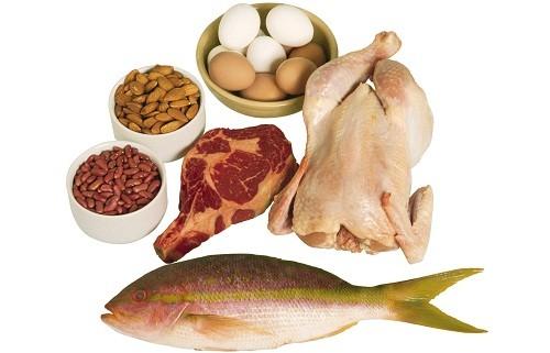 Những thực phẩm cung cấp protein tốt nhất là thịt gia cầm, hải sản, trứng, các sản phẩm được chế biến từ sữa ít béo, các loại đậu và hạt cây.