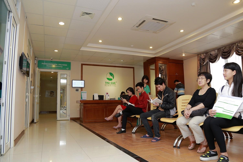 Phòng khám Sản - phụ khoa Bệnh viện Đa khoa Quốc tế Thu Cúc khám và điều trị nhiều bệnh lý phụ khoa khác nhau.