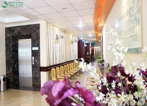 Không gian bệnh viện Thu Cúc được thiết kế theo mô hình bệnh viện – khách sạn, sang trọng sạch sẽ, vô khuẫn tuyệt đối.