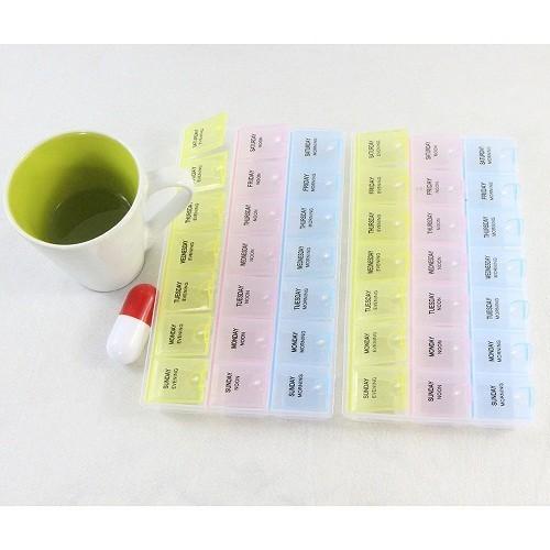 Có thể sử dụng hộp để cất giữ thuốc theo ngày và theo liều để nhắc nhở người bệnh uống thuốc đúng ngày và đúng liều lượng.