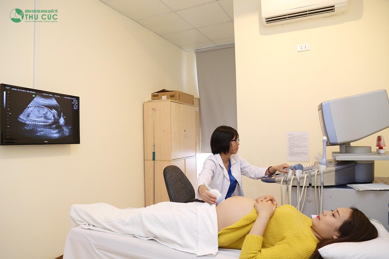 Siêu âm thai tại Bệnh viện Đa khoa Quốc tế Thu Cúc.
