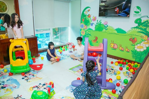 khu vui chơi cho bé tại Thu Cúc