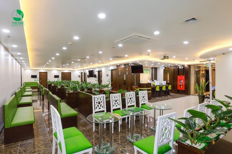 Khoa Phụ sản được thiết kế với không gian xanh thân thiện.