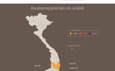 Bản đồ bệnh Zika đang lan truyền ở Việt Nam