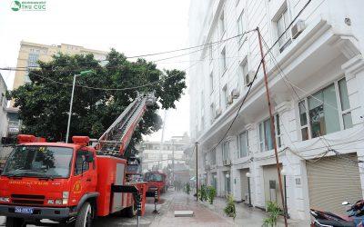 Bệnh viện Thu Cúc: Diễn tập phòng cháy chữa cháy