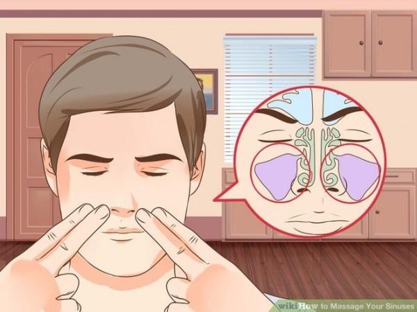 Massage mũi giúp làm giảm cơn đau nhức cánh mũi hiệu quả