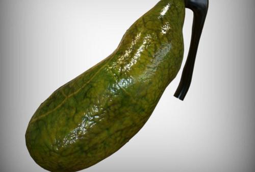 Túi mật là một túi hình quả lê nằm ở dưới gan, ở phía trên bên phải của bụng.