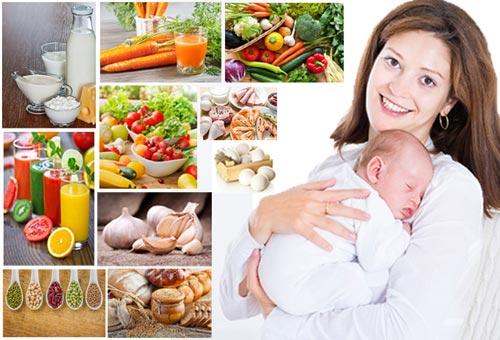 Chế độ ăn uống sau sinh cho sản phụ