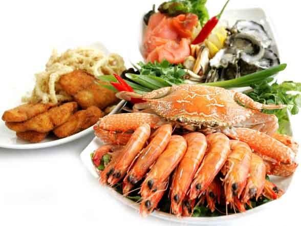 Các loại hải sản thường có vị tanh vì thế dễ gây hiện tượng kích ứng đối với cổ họng