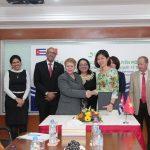 Lễ ký kết hợp tác chuyên môn giữa BVĐKQT Thu Cúc và Bộ Y Tế Cuba