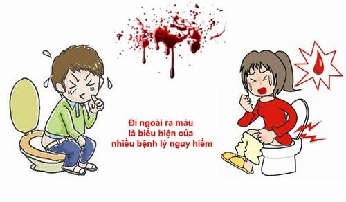 Đại tiện ra máu tươi cảnh báo bệnh lý nguy hiểm