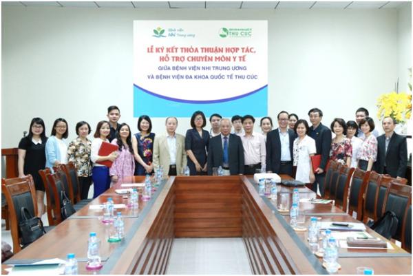 BV Thu Cúc ký kết hợp tác chuyên môn với BV Nhi Trung ương