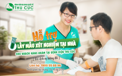 Hỗ trợ lấy mẫu xét nghiệm tại nhà cho người bệnh khám tại Bệnh viện Thu Cúc