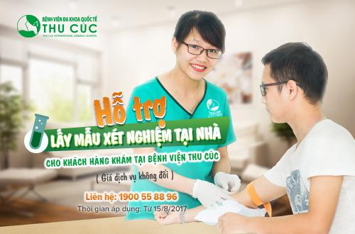 Hỗ trợ lấy mẫu xét nghiệm tại nhà cho khách hàng khám tại Bệnh viện Thu Cúc