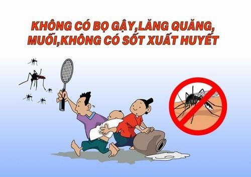 Cách phòng bệnh tốt nhất là diệt muỗi, lăng quăng/bọ gậy và phòng chống muỗi đốt.