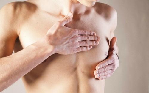 Khi bị ung thư vú, nam giới sẽ thấy xuất hiện các triệu chứng bất thường ở núm vú, lõm da...