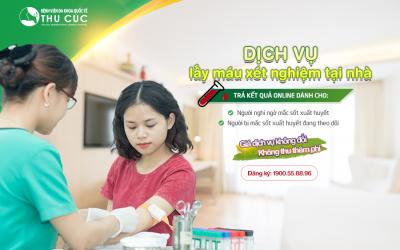 Lấy máu tại nhà – trả kết quả online cho xét nghiệm sốt xuất huyết