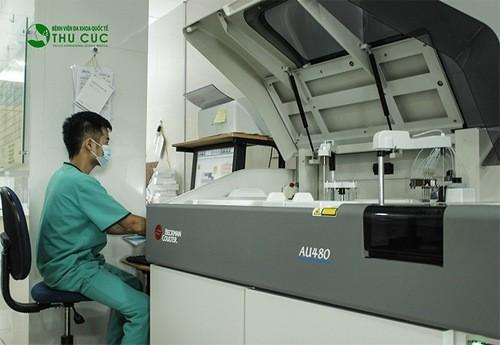 Bệnh viện Thu Cúc có trang thiết bị y tế, máy móc hiện đại giúp xét nghiệm nhanh chóng, chính xác