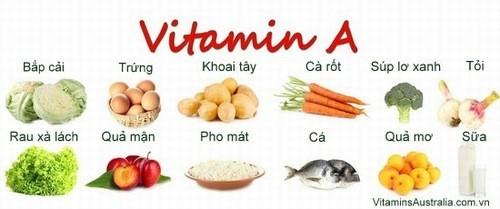 Thực phẩm giàu vitamin A tốt cho hồng cầu