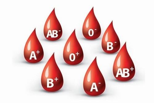 Nhóm máu O chiếm 40% dân số thế giới.