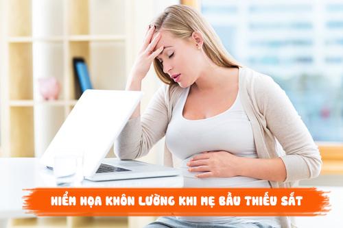 Bà bầu thiếu máu gây nguy hại cho sức khỏe của cả mẹ và thai nhi