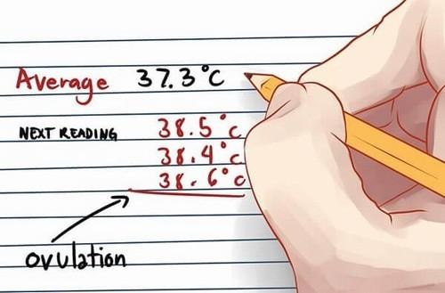 Nhiệt độ cơ thể tăng nhẹ ngày rụng trứng.