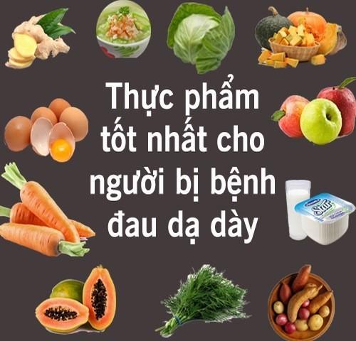 Thực phẩm tốt cho người bị bệnh đau dạ dày