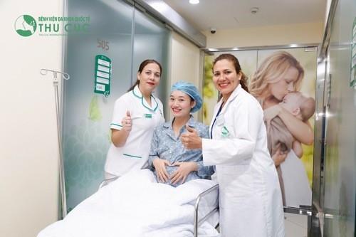 Một trong những cơ sở được đông đảo mẹ lựa chọn là Bệnh viện Đa khoa Quốc tế Thu Cúc.