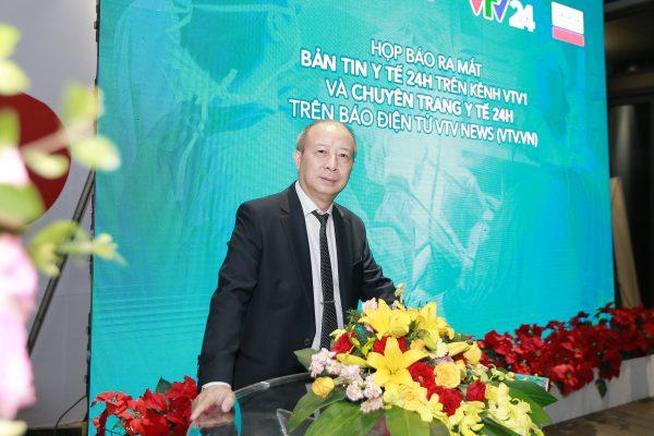Thầy thuốc ưu tú, Bác sĩ cao cấp Lê Tuyên Hồng Dương, GĐ chuyên môn bệnh viện Thu Cúc tham dự lễ ra mắt bệnh viện online.