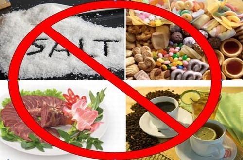 Người bệnh cao huyết áp cần hạn chế những thực phẩm gây hại