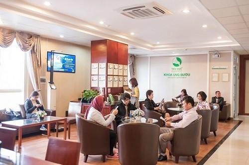 Khoa Ung bướu - bệnh viện Thu Cúc có môi trường khám bệnh thân thiện, tạo tâm lý thoải mái cho khách hàng