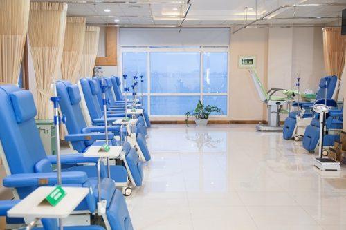 Khu vực điều trị hóa trị tại Bệnh viện Thu Cúc