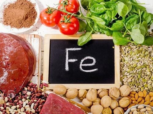 Thực phẩm chứa nhiều sắt giúp bổ sung máu cho bà bầu.