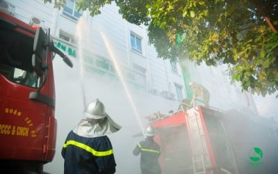 Tập huấn phòng cháy chữa cháy định kỳ 2018 tại Bệnh viện ĐKQT Thu Cúc