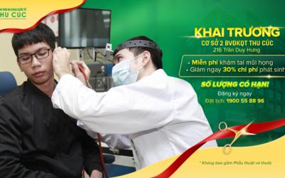 Miễn phí khám tai mũi họng dịp khai trương Phòng khám ĐKQT Thu Cúc