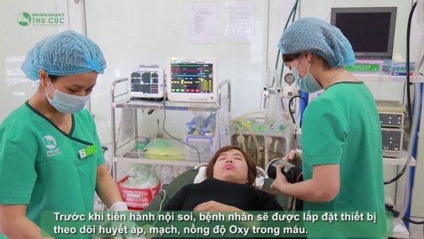 phòng khám nội soi bệnh viện Thu Cúc nội soi không đau, không gây khó chịu
