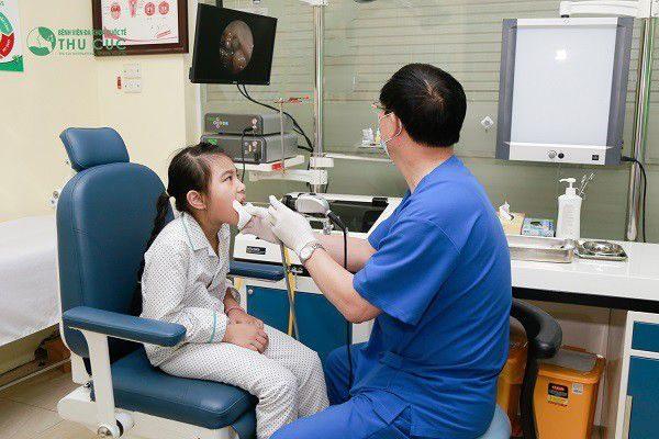phòng khám tai mũi họng cho trẻ em tại Thu Cúc