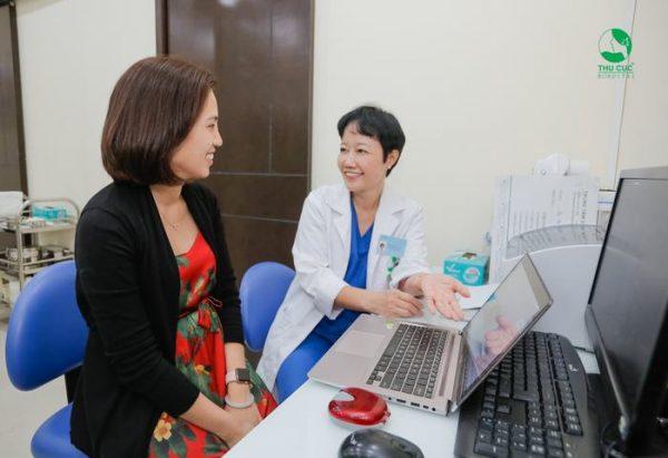 khách hàng điều trị tại thu cúc