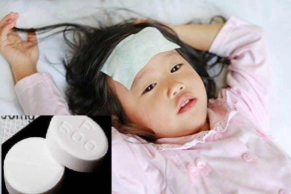 trẻ bị ngộ độc paracetamol
