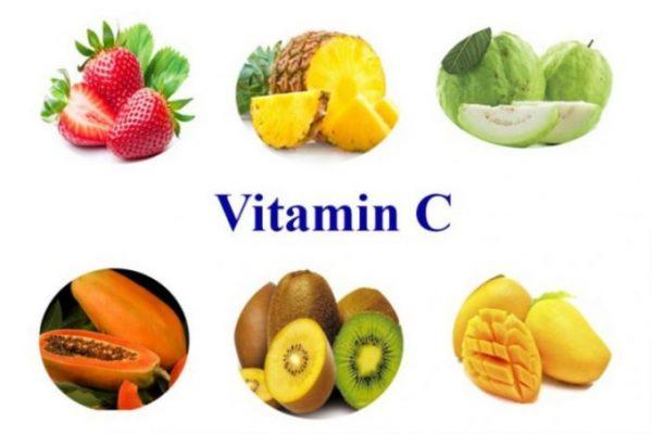 bổ sung vitamin C từ hoa quả