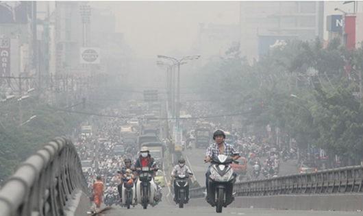 ô nhiễm môi trường làm ra tăng bệnh nhiễm trùng hô hấp cấp tính ở trẻ.